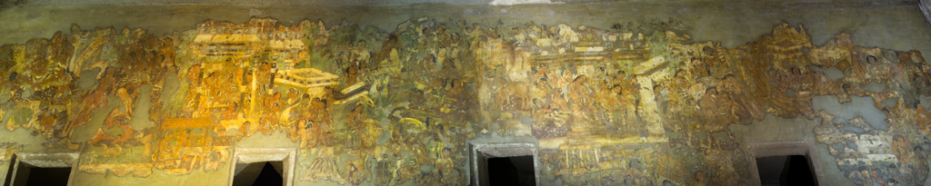 Wall Painting in one of the caves